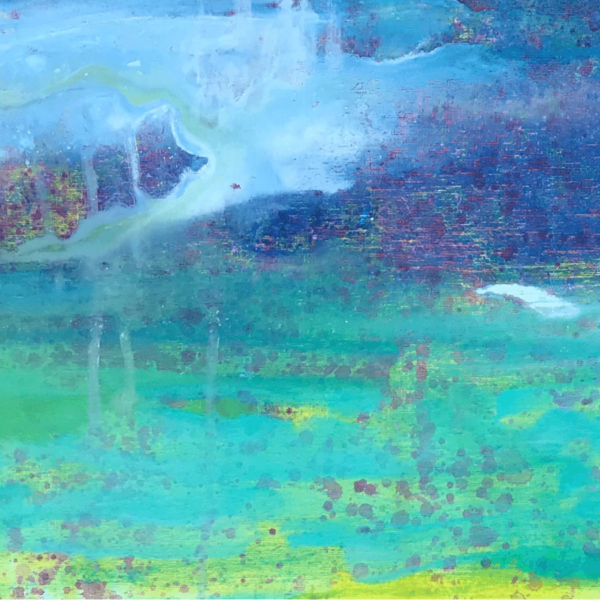 Grace Bay Abstract painting by Cassandra Gaisford.